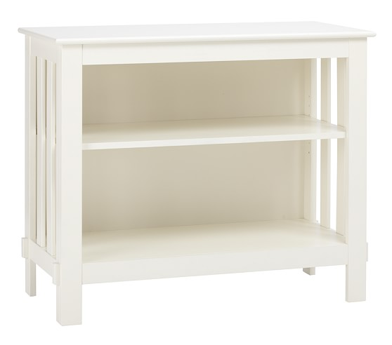 Kendall 2-Shelf Bookcase, Simply White
