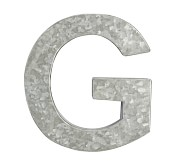 Galvanized Wall Letter, G