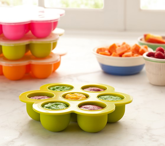 Béaba Multiportion Baby Food Freezer Tray, Green