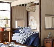 Sawyer Twin Canopy Bed & Dresser Set, Tuscan