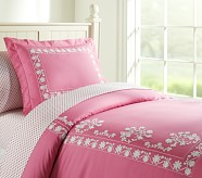 Isabelle Duvet Cover, Twin, Pink