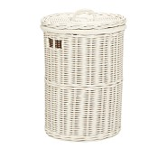 Round Sabrina Hamper, Simply White