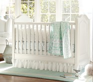 Alicia Nursery Quilt Bedding Set: Toddler Quilt, Crib Skirt & Crib Fitted Sheet