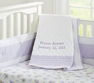 Gingham Nursery Quilt, Lavender