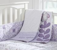 Quinn Nursery Bumper Bedding Set, Crib Skirt, Crib Fitted Sheet & Bumper