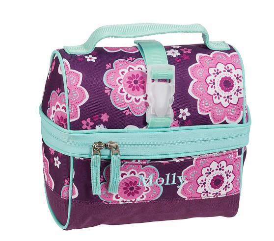 Mackenzie Plum Boho Retro Lunch Bag