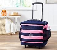 Cooler Bag, Fairfax Pink/Navy Stripe, No Patch