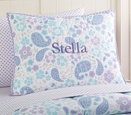 Loft Paisley Standard Quilted Sham, Lavender