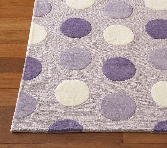 Lavender Allie Dot Rug Swatch