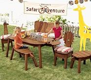 Giraffe/Lion Chair Cushion, Stripe