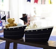 Fabric Sailboat Changing Table Storage