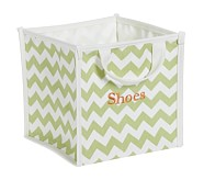 Green Harper Chevron Pop Up Tote