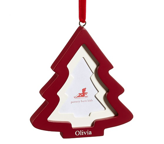 Red Frame Ornament, Tree