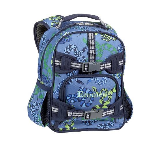 Mackenzie Blue Snake Mini Backpack