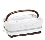 Gray Harper Diaper Caddy Liner