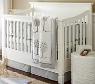 Matelasse Dot Nursery Quilt Bedding Set: Toddler Quilt, Crib Skirt & Crib Fitted Sheet