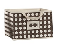 Chocolate Dot Large Canvas Box Storage