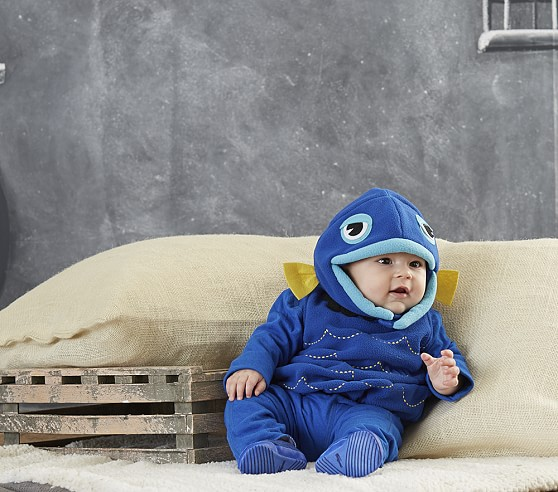 Blue fish baby costume pottery barn kids for Baby fish costume