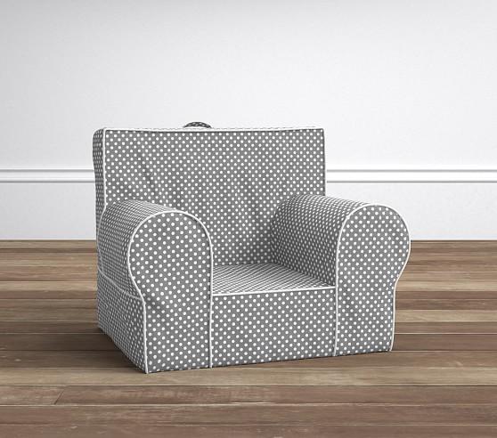 Gray mini dot anywhere chair pottery barn kids for Anywhere chair