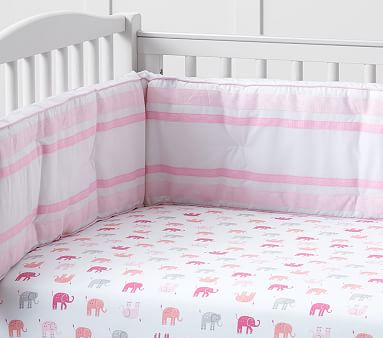 Harper Elephant Crib Fitted Sheet Pottery Barn Kids