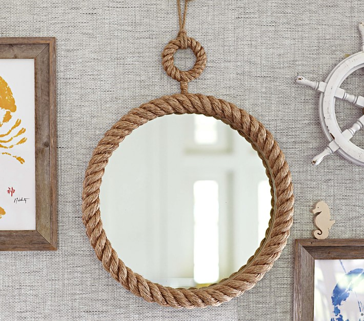 Nautical Rope Mirror Pottery Barn Kids. Mirror For Boys Room