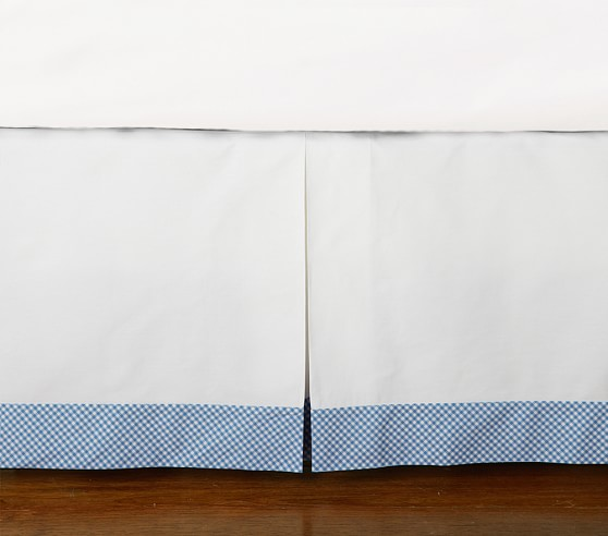 Gingham Crib Skirt 21