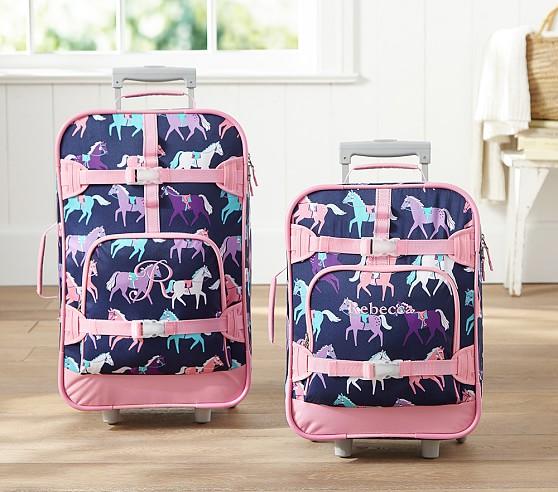 Mackenzie Navy Horse Luggage Pottery Barn Kids