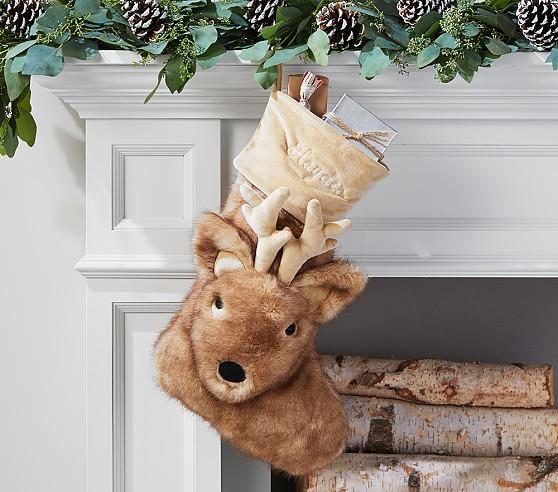 Reindeer Faux Fur Stocking