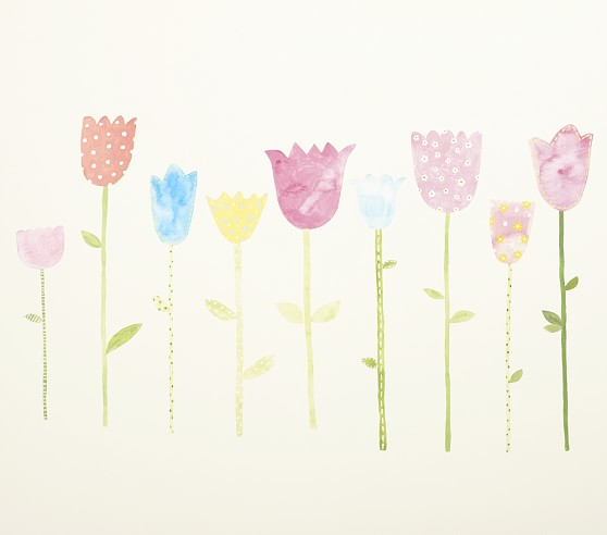 Tulip Wall Decals Pottery Barn Kids
