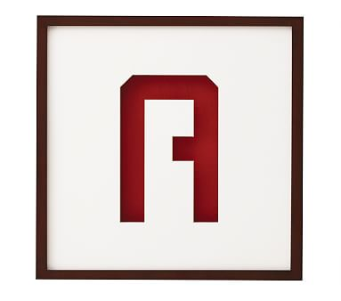 gallery frame letter shape mats pottery barn kids With letter shaped picture frames