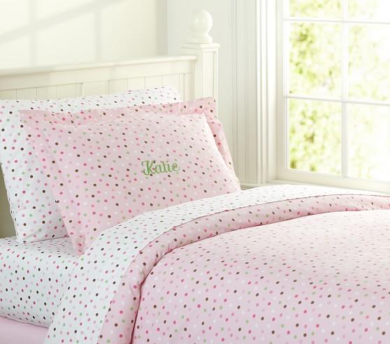 katie polka dot duvet cover pottery barn kids. Black Bedroom Furniture Sets. Home Design Ideas