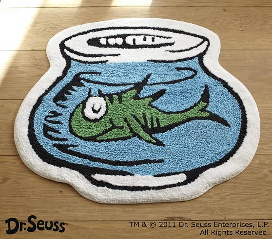 Dr seuss bath mat pottery barn kids for Fish bath rug