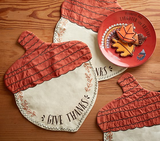 Acorn Fabric Placemat Pottery Barn Kids