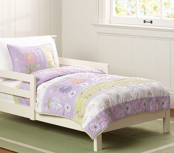Garden Toddler Bed : Daisy garden toddler quilted bedding pottery barn kids