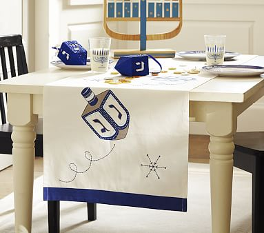 Hanukkah Table Runner Pottery Barn Kids