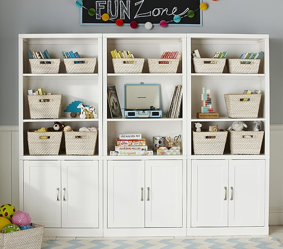 wide storage wall system pottery barn