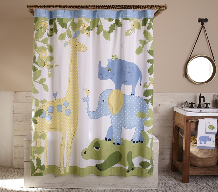 86+ Kids Animal Alphabet Shower Curtain Letters Zoo Animals Baby ...