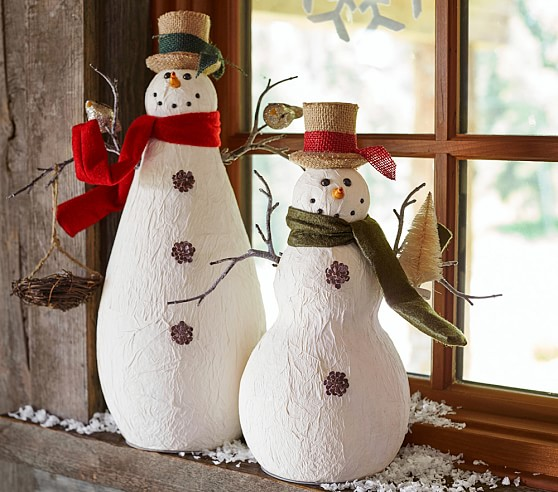 Paper Mache Snowmen Pottery Barn Kids