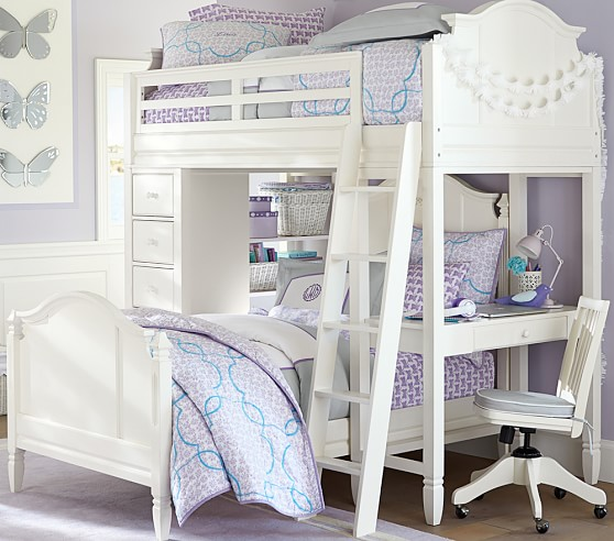 Madeline Bunk System With Twin Bed Set Pottery Barn Kids