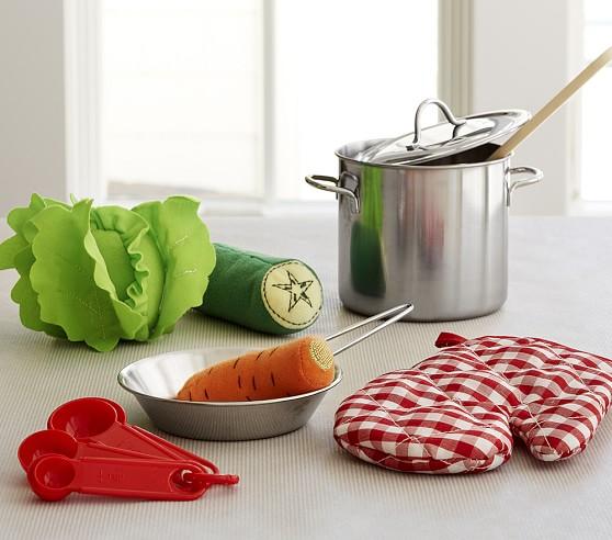 Mini cooking set pottery barn kids for Mini kitchen set for kids