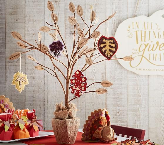Thanksgiving tree centerpiece pottery barn kids