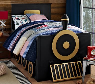 Personalized Train Bed Amp Trundle Pottery Barn Kids
