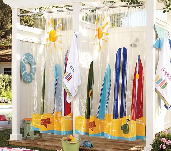 Vinyl Surf Shower Curtain Pottery Barn Kids