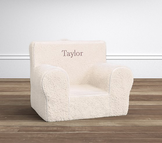 Cream Sherpa Anywhere Chair 174 Pottery Barn Kids