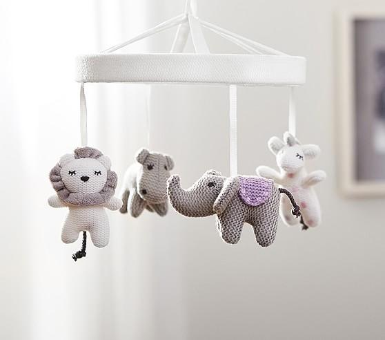 Knit Animal Friends Crib Mobile Pottery Barn Kids