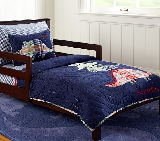 Dino Madras Toddler Quilted Bedding Pottery Barn Kids