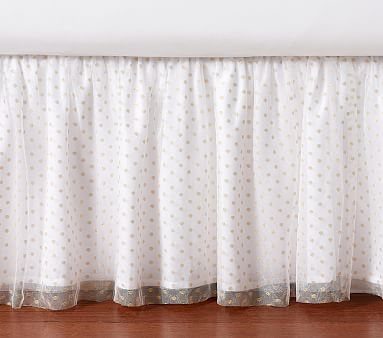 Gold Dot Tulle Bed Skirt Pottery Barn Kids