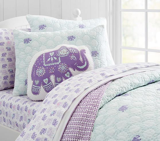 Stella Elephant Quilted Bedding Pottery Barn Kids