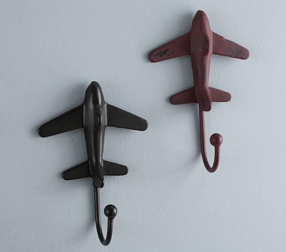Rustic Metal Plane Hooks Pottery Barn Kids