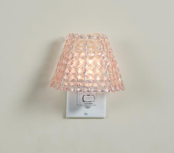Pottery Barn Beaded Lamp Shade: Beaded Shade Nightlight